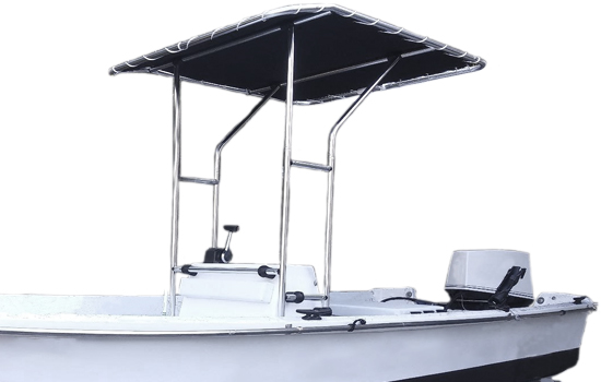 Summerset T-top Bimini Shade shown in Black.