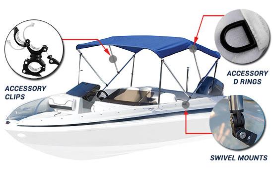 Sunbrella Boat Bimini Tops